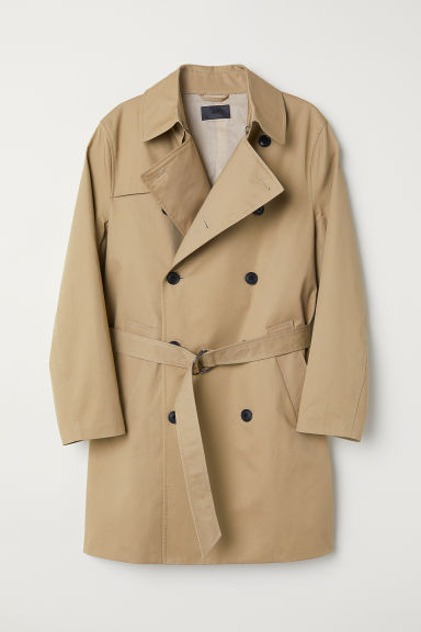 Short trenchcoat - Beige - Men | H&M