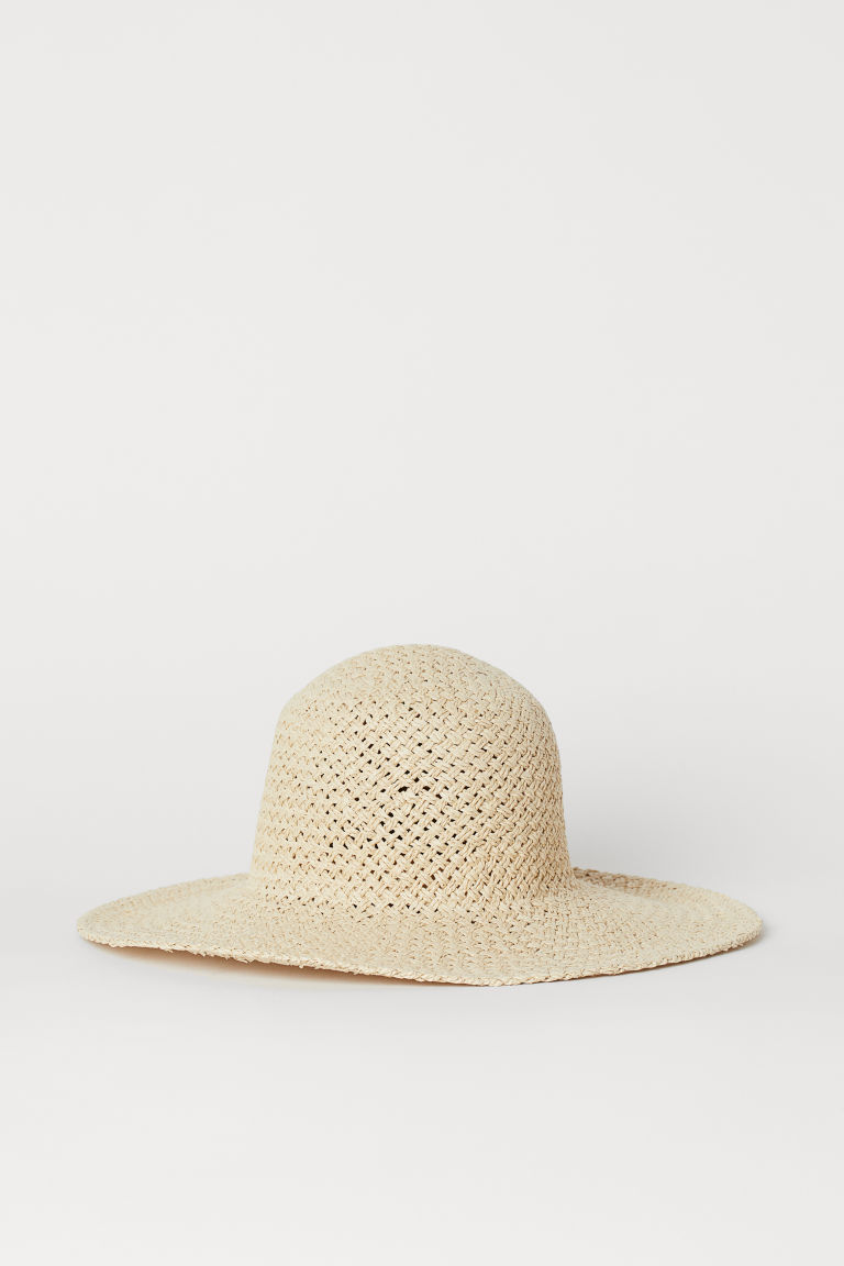 Straw hat - Light beige -  | H&M CN