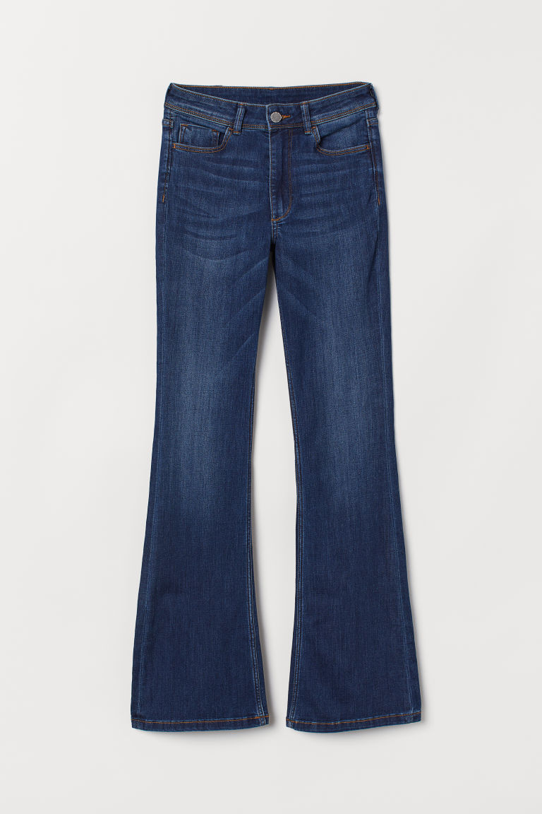 Mini Flare High Jeans - Denim blue -  | H&M GB