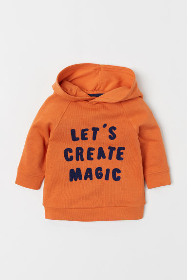 Jersey con capucha - Naranja/Create Magic - NIÑOS | H&M ES