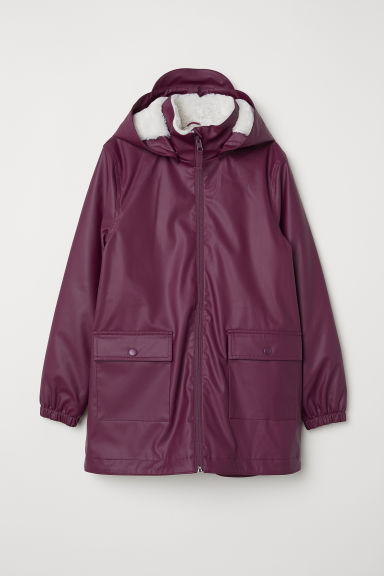 Pile-lined rain jacket - Purple - Kids | H&M CN