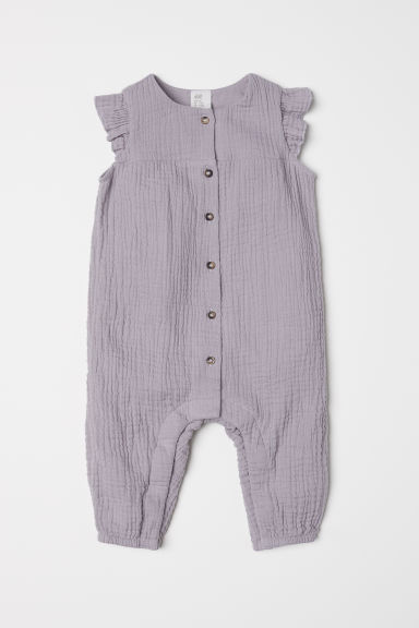Cotton all-in-one suit - Light grey - Kids | H&M