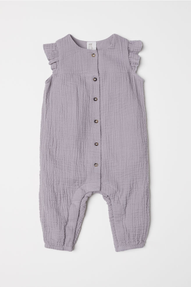 37abb3e4c Cotton all-in-one suit - Light grey - Kids