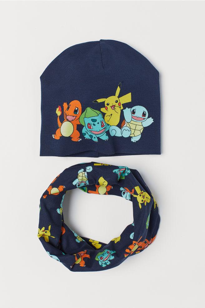 840db1365a7 Hat and tube scarf - Dark blue Pokémon - Kids