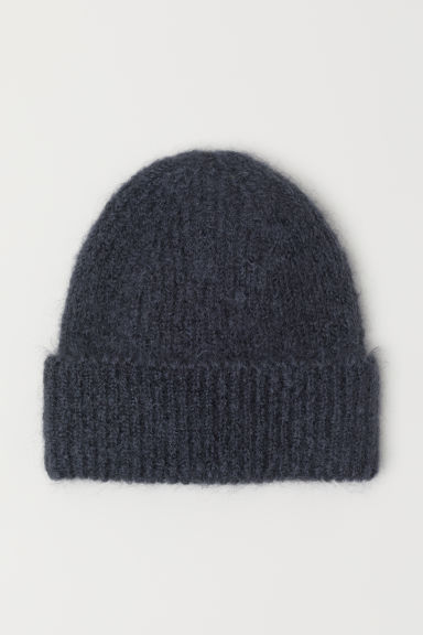 Mohair-blend hat - Dark grey - Ladies | H&M