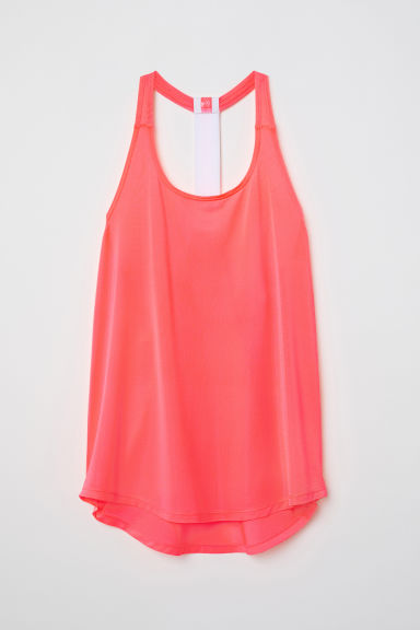 Sports vest top - Coral pink - Ladies | H&M CN