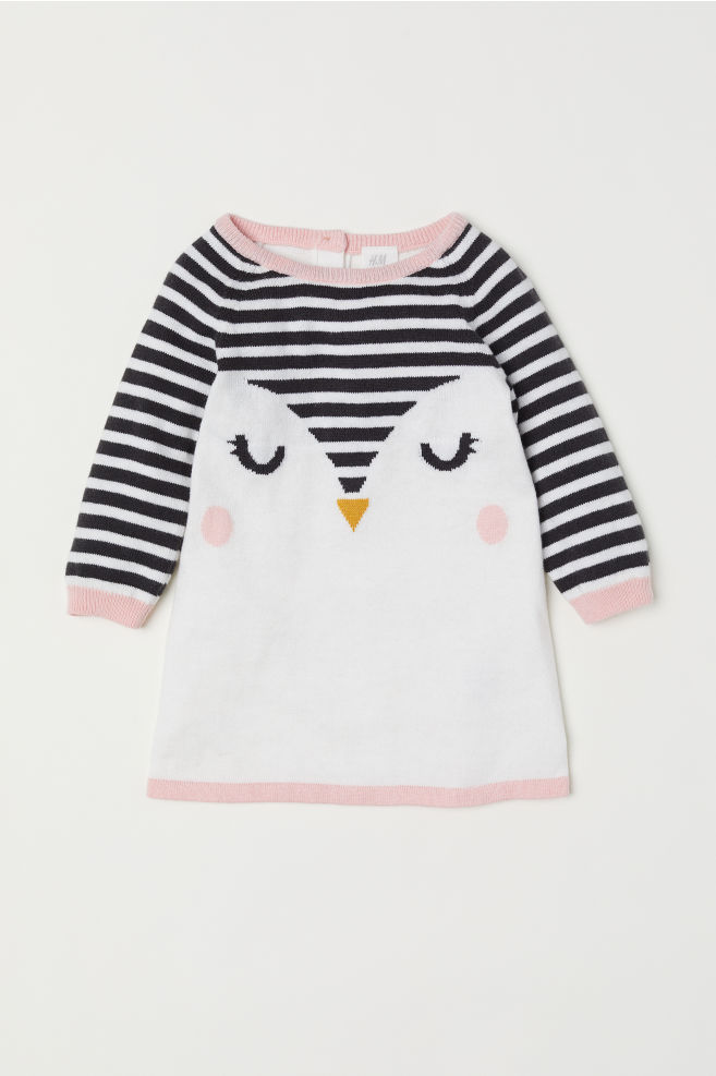 4248ed967f57 Jacquard-knit Dress - White bird - Kids