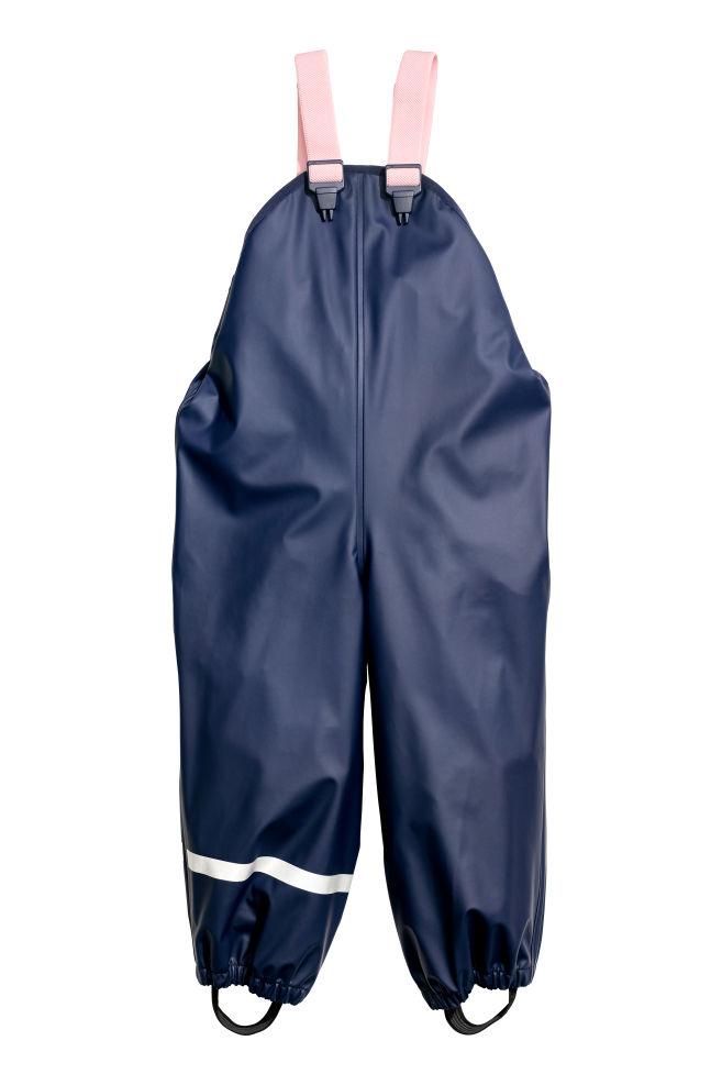 1bb633ae Regnbukser med seler - Mørkeblå/Lys rosa - BØRN | H&M ...