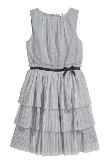 Glittery tulle dress - Light grey - Kids | H&M