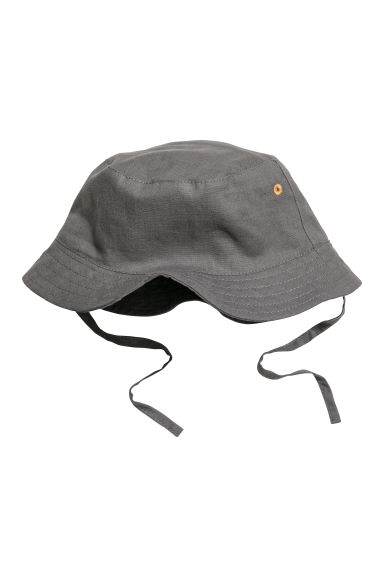 Cotton fisherman's hat - Dark grey -  | H&M