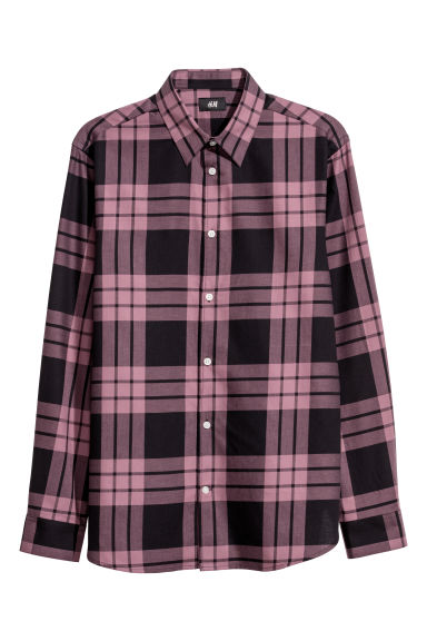 Checked shirt Regular fit - Light purple -  | H&M