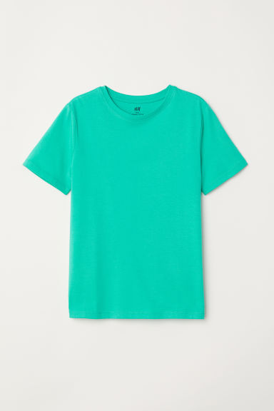 Cotton T-shirt - Green -  | H&M CN