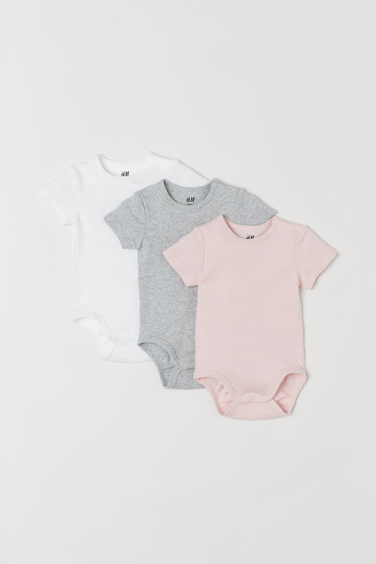 3-pack jersey bodysuits - Pink - Kids | H&M IE