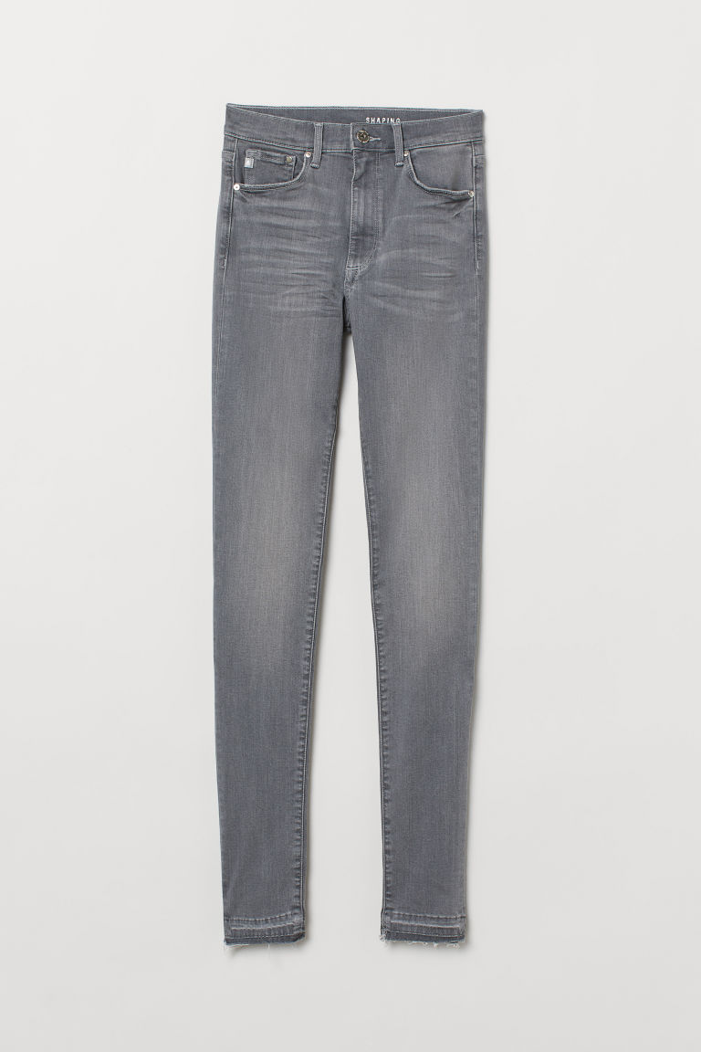 Shaping Skinny High Jeans - Gris denim claro -  | H&M MX