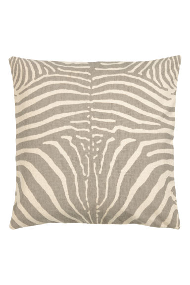 Kussenhoes met zebraprint - Taupe/zebraprint -  | H&M BE