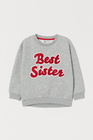 Sweatshirt with a terry motif