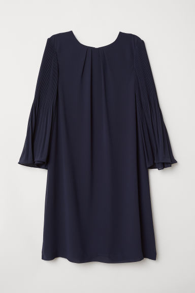 Abito con maniche scampanate - Blu scuro - DONNA | H&M IT