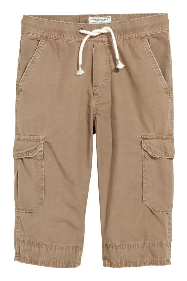 Long cargo shorts - Beige -  | H&M