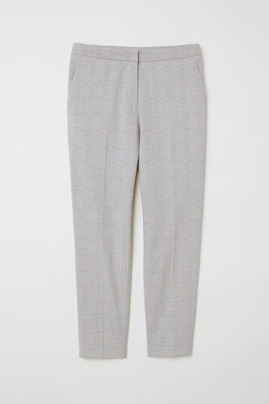 Tailored trousers - Light grey/Checked - Ladies | H&M