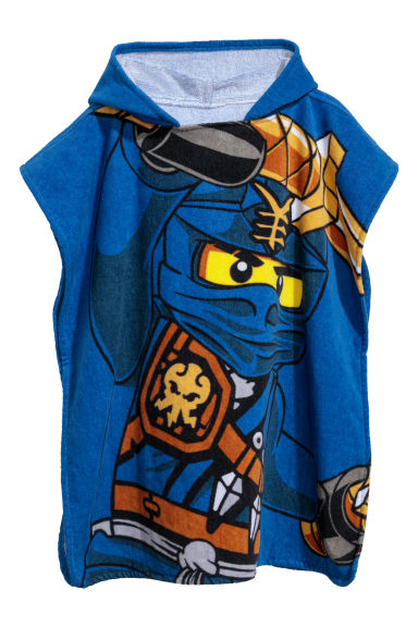 Hooded bath towel - Dark blue/Lego -  | H&M