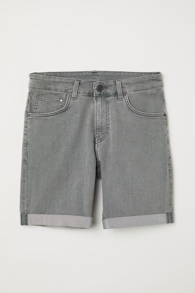 Jeansshort - Skinny fit - Grijs denim - HEREN | H&M BE