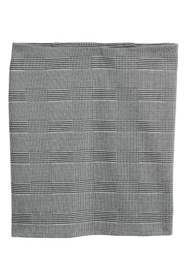 Patterned jersey skirt - Black/White checked - Ladies | H&M