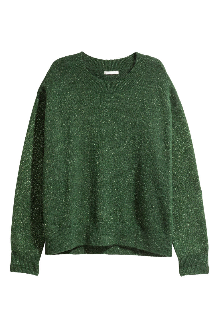 Fine-knit jumper - Green - Ladies | H&M