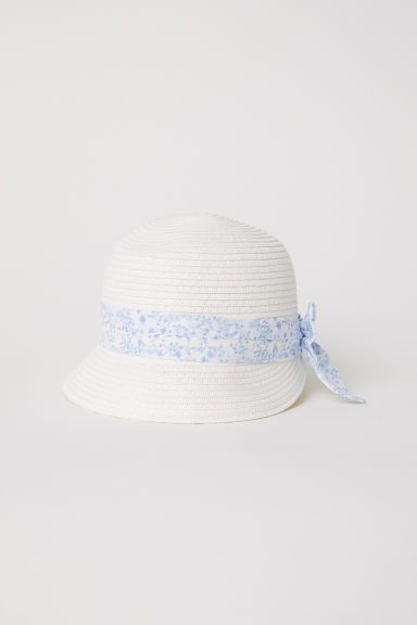 Straw hat - White - Kids | H&M