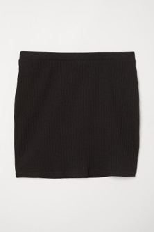 Ribbed Jersey Skirt