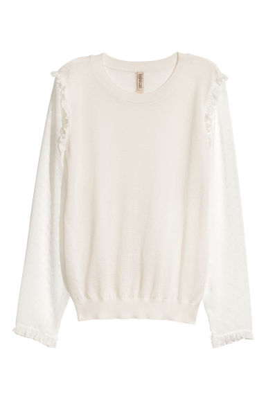 Fine-knit jumper - White -  | H&M