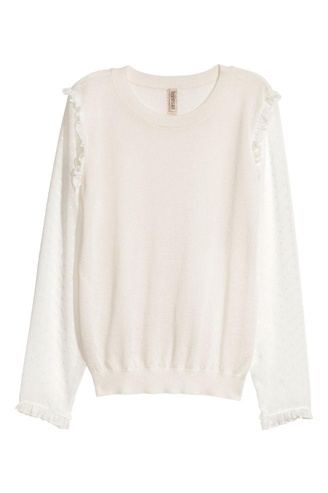 Fine-knit Sweater - White - Ladies  ff1bdcaf5