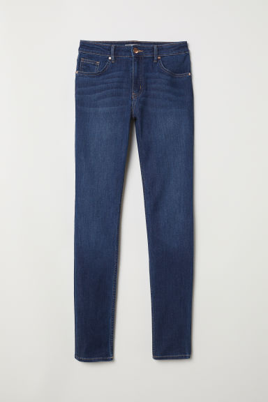 Trousers Skinny fit - Dark blue denim - Ladies | H&M CN