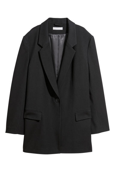 Oversized jacket - Black -  | H&M
