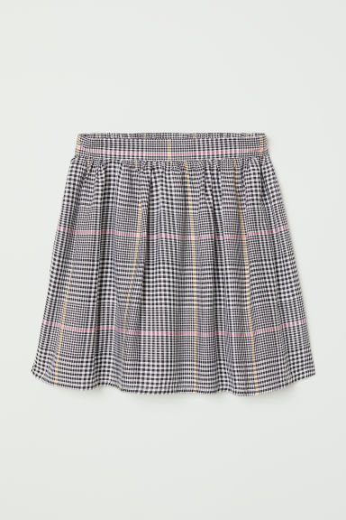 Bell-shaped viscose skirt - Black/Checked - Kids | H&M