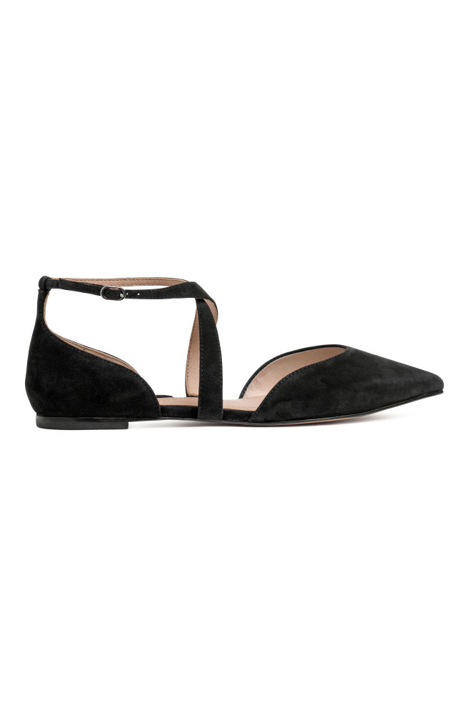 735e97d39 Ballet pumps with a strap - Black - Ladies | H&M ...