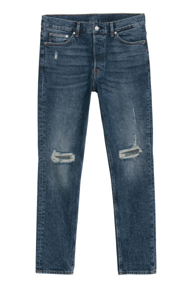 Slim Jeans - Donkerblauw/trashed - HEREN | H&M BE