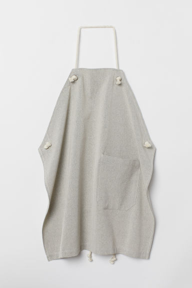 Cotton apron - Grey marl - Home All | H&M CN
