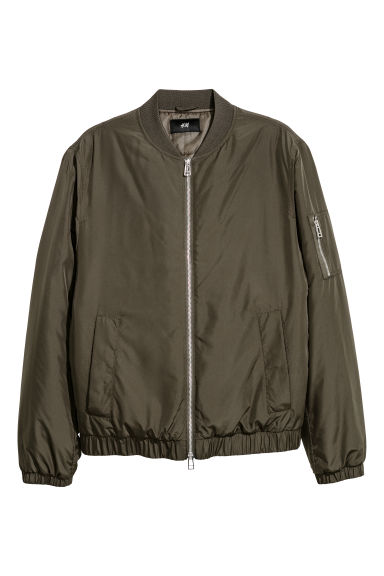 Padded bomber jacket - Khaki green - Men | H&M
