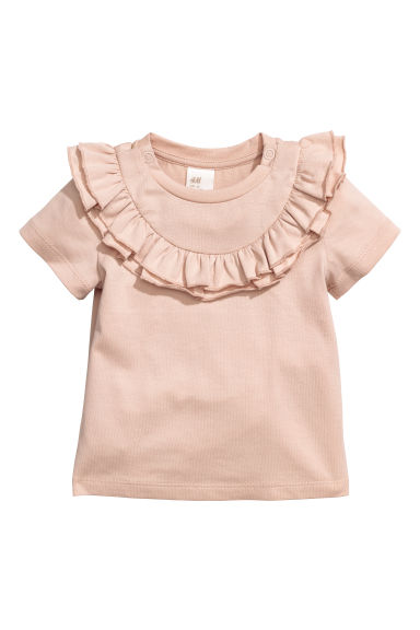 Frilled top - Powder pink - Kids | H&M CN