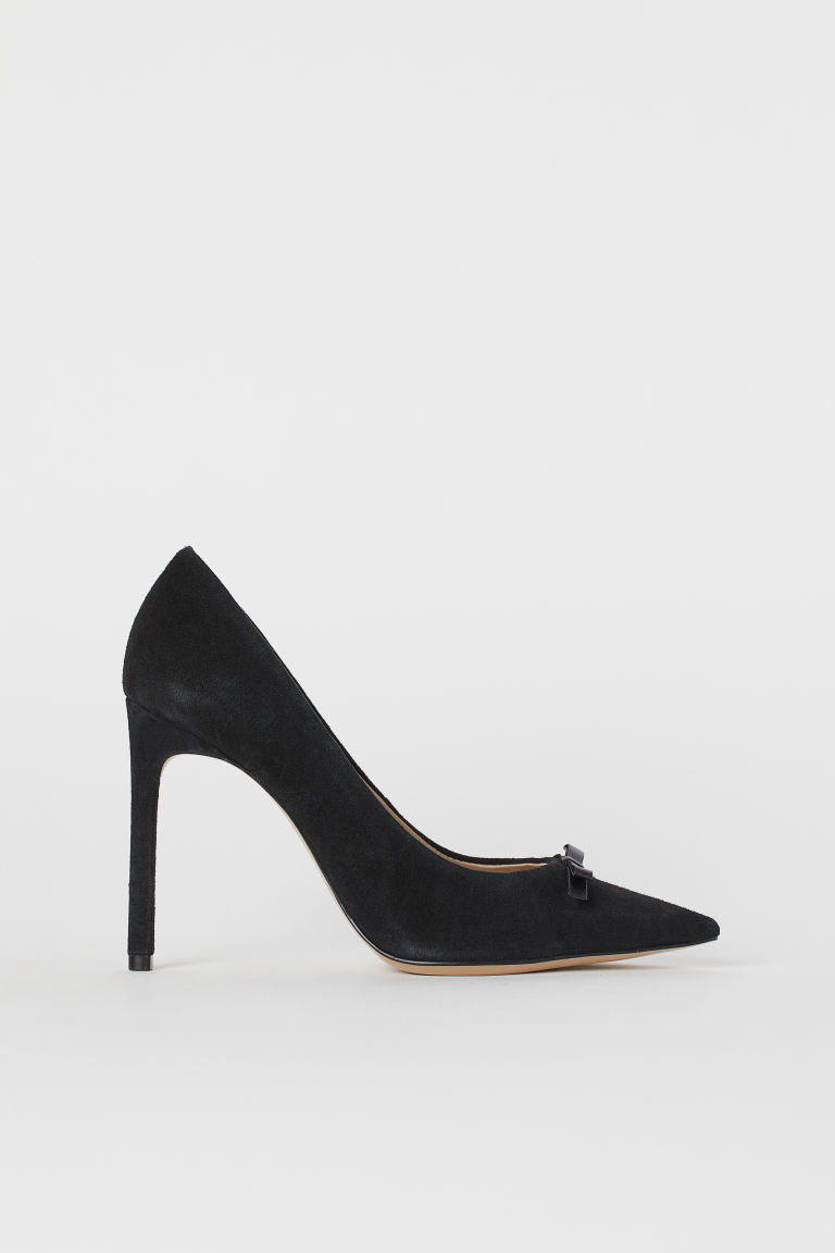 Suede Pumps - Black - Ladies | H&M CA