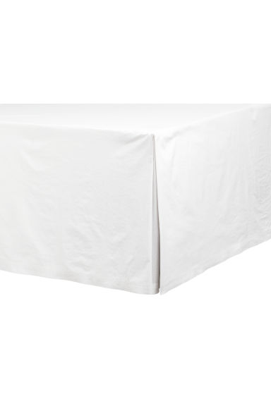 Washed cotton valance - White - Home All | H&M IE