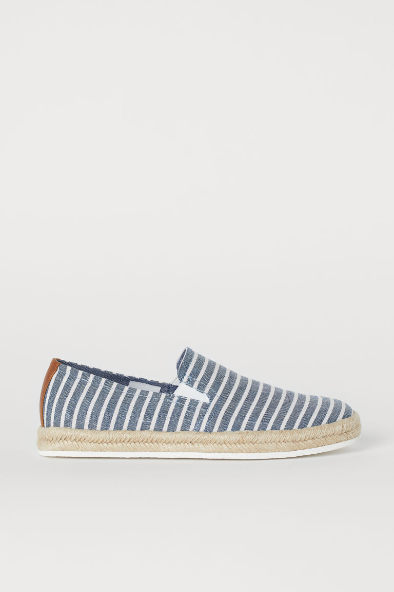 Espadrilles - Dark blue/White striped - Men | H&M CN