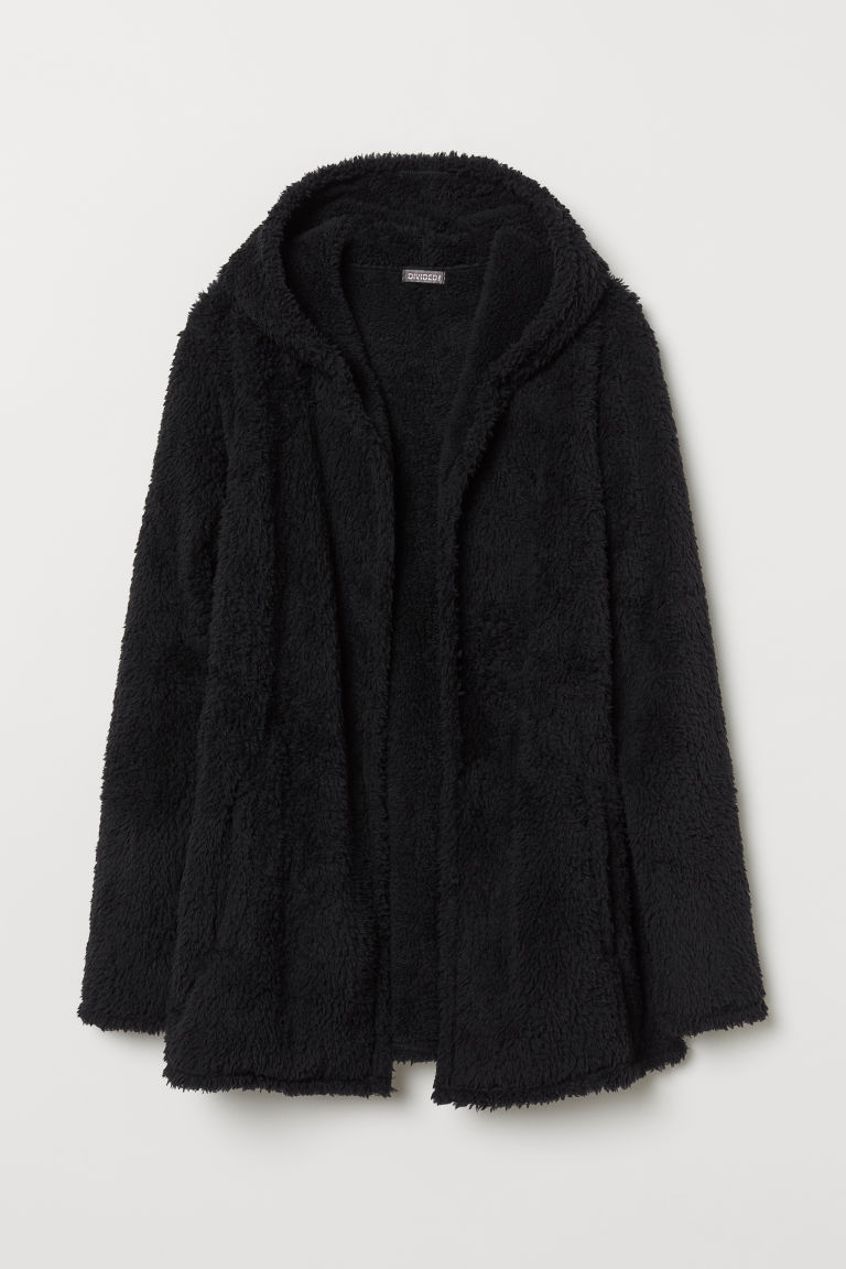 Fleece cardigan - Black - Men | H&M
