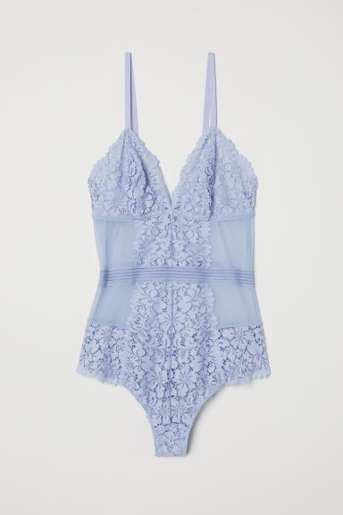 Kanten body - Lichtblauw - DAMES | H&M BE