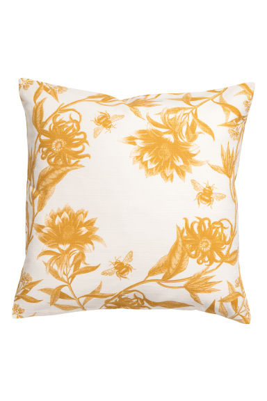 Patterned cushion cover - Natural white/Yellow - Home All | H&M GB
