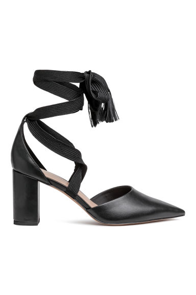 Court shoes with ties - Black -  | H&M