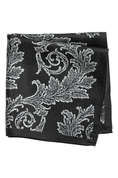 Patterned silk scarf - Black/Paisley patterned - Men | H&M