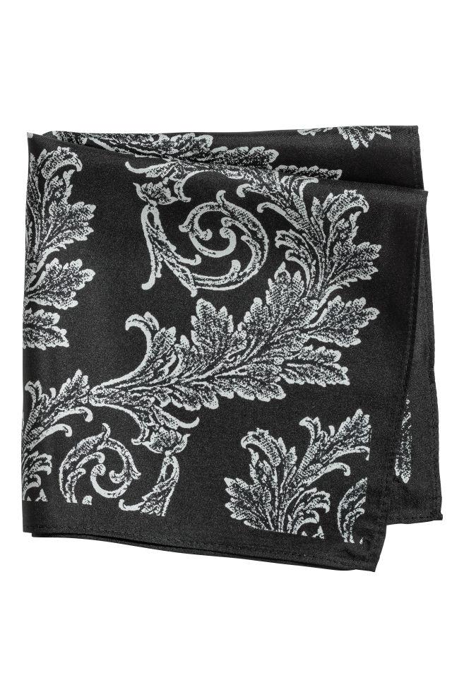 351041d75ee Foulard en soie à motif - Noir motif cachemire - HOMME
