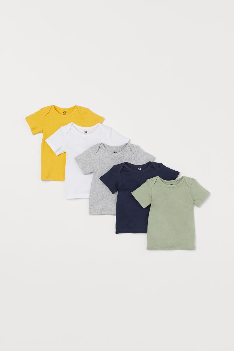 5-pack cotton T-shirts - Green - Kids | H&M GB