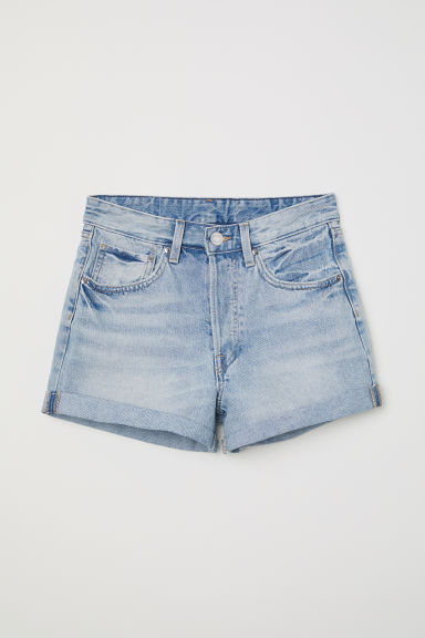 Denim shorts Mom Fit - Light denim blue - Ladies | H&M CN